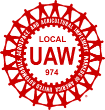 UAW Local 974 Banner